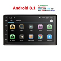 Universal 7Android 8.1 Car DVD Player WIFI Android GPS 2din Car Radio GPS NAVIGATION For VW Nissan TOYOTA Volkswagen Peugeot 4G