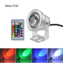 10W RGB Underwater LED Pond light Waterproof AC 12V Spotlight Bulb Swi