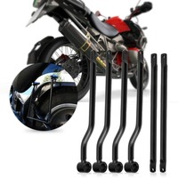 Motorcycle Saddlebag Support Bars Brackets Kit for Harley Honda Suzuki Yamaha Kawasaki Silver
