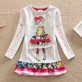 Аккуратные Розничная девочка одежда Прекрасные платья детская одежда девушки платье с длинным рукавом девушки одежда vestidos infantil LH3660
