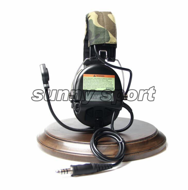 4 Generation Chip, New American MSA, Sordin Pickup Noise Reduction Tactical Headset / Headset, Bilateral Intercom Headset