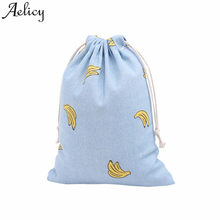 Aelicy 2018 bag Women Men Polyester Unisex 3D Banana Printing Backpack Hand Small Bottle Beam Port Storage Bag Gift Travel Bag(China)