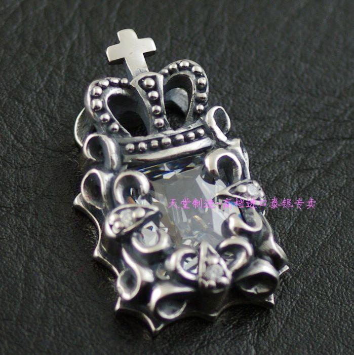 Здесь продается  Justin Davis Style White Zircon  Edition retro 925 Sterling Silver Pendant crown  Ювелирные изделия и часы