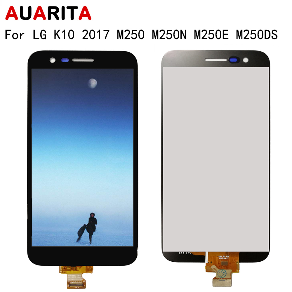 1pcs LCD for LG K10 2017 M250 M250N M250E M250DS LCD Display Touch panel Screen Digitizer with frame Assembly for LG k10 k10TV