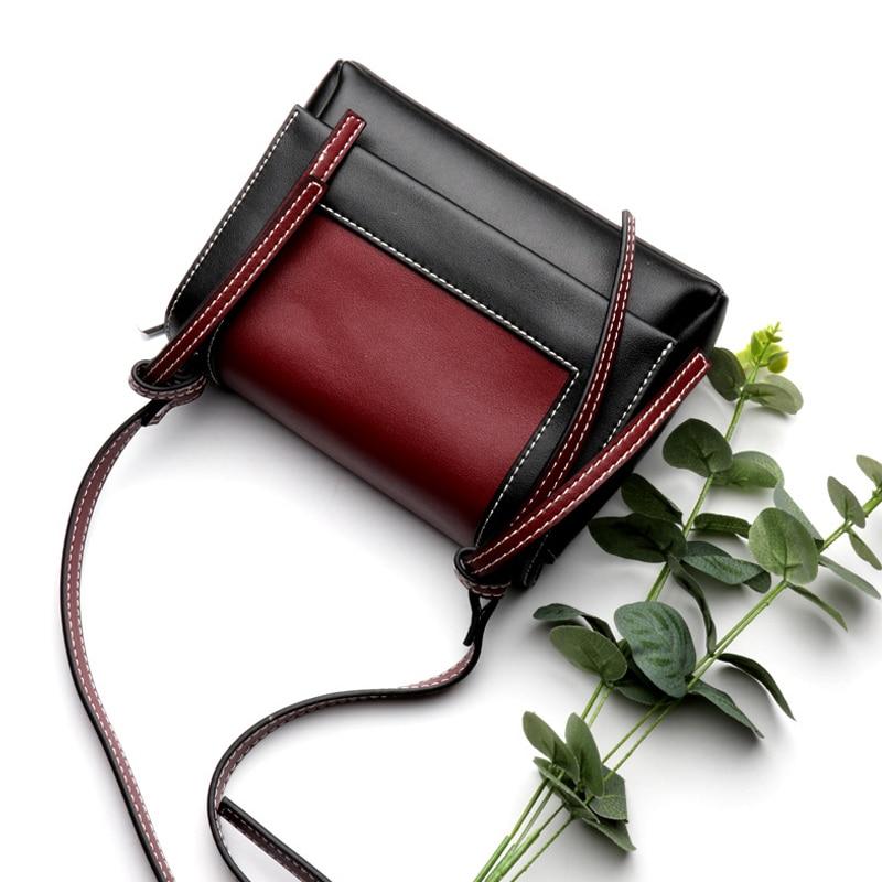 Designer Luxe red Véritable En De Épaule Brown wine À Bolsa Cuir Femmes Pour Sacs Qualité Sac Main Red Haute Nouveau Messager 2018 Hp7awa