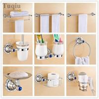 Free Shipping The whole bathroom towel rack, towel rack Copper Diamond Pendant Set Silver chrome bathroom bathroom hardware rack
