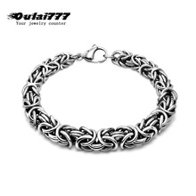 2019 stainless steel men bracelet on hand link chain charm gifts for male mens personalized bracelets hip hop rock