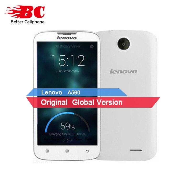 Nuevo original Lenovo A560 Android 4,3 3G WCDMA GPS Bluetooth ruso beyboard Doble tarjeta SIM MSM8212 Quad Core superior teléfono Inteligente