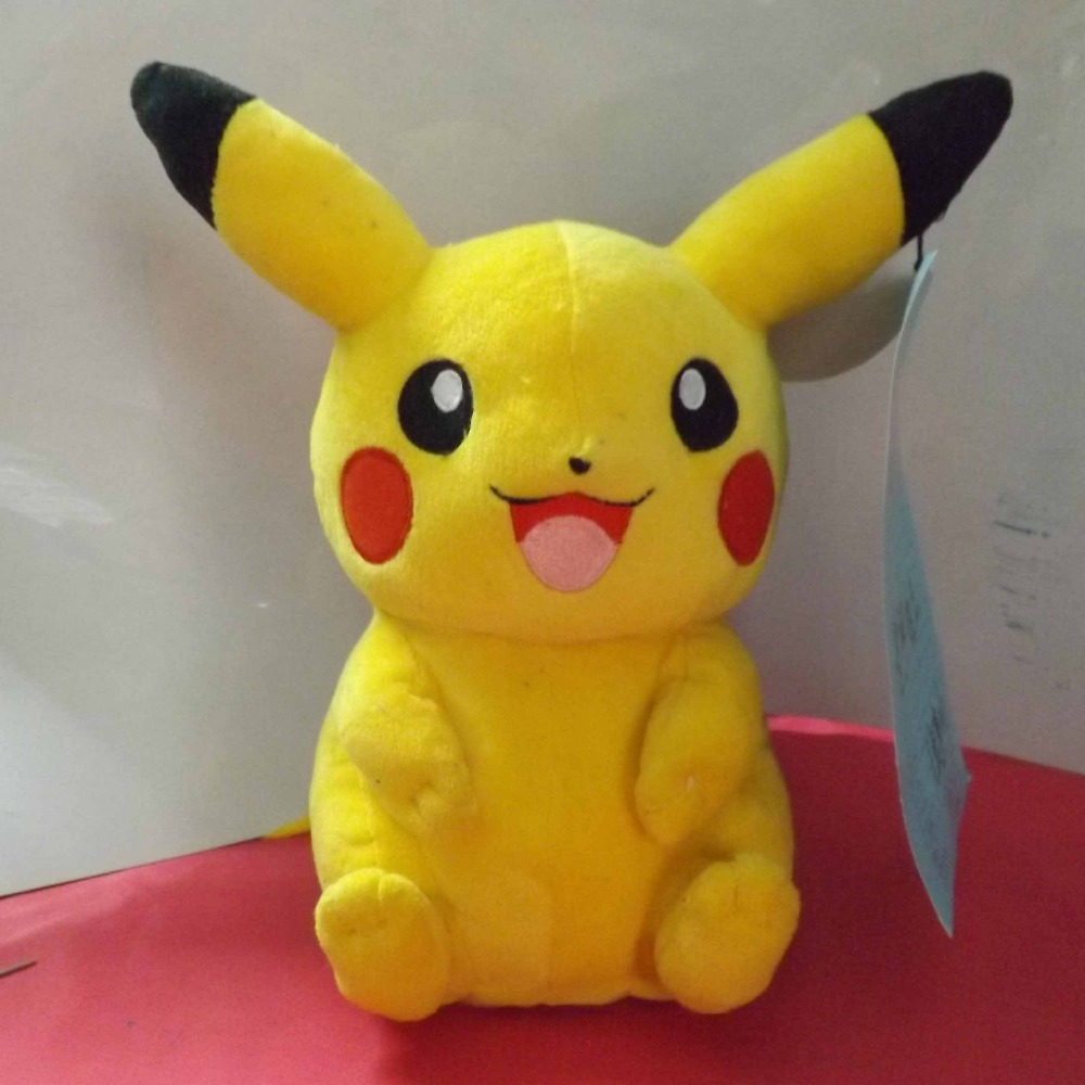 Hot Cute Pikachu Plush Toys 22cm High Quality Plush Toys Children's Gift Toy Kids Cartoon Peluche Pikachu Plush Dolls for Baby cartoon pikachu waza museum ver cute gk shock 10cm pikachu pvc action figures toys go pikachu model doll kids birthday gift