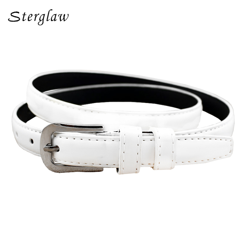 110cm New summer Lady thin women's   belts   and straps 2019 casual white   Belt   woman lacquer with high waist jeans ceinture F136