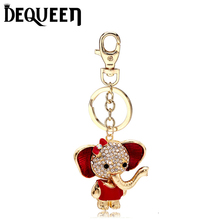 Animal Elephant Rhinestone Keyring Charm Pendant Purse Bag Key Ring Chain Keychain Gift