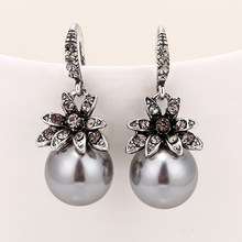 Moda imitação de pérola brincos incrustados strass requintado encantador casamento jóias para mulher três cores optional2019