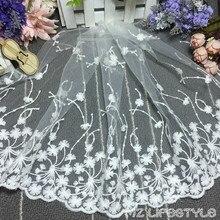 5yards/lot Eyelash Lace Trim Jacquard Lace Embroidered Sewing Net Lace Fabric black white