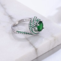 Real Solid 100% 925 Sterling Silver Rings for Women Luxury 3 Carat green stone 5a CZ Engagement Ring Wedding Jewelry size 5 10