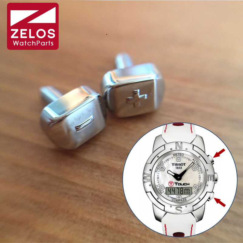 Sinal e Menos Empurrador para Tissot Relógio Mais Sinal T-touch Coleção T33 Botão