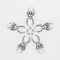 10 Pcs Fashion Silver Alloy Spider Skull Pendant For Jewelry Marking DIY Necklace Findings Handmade