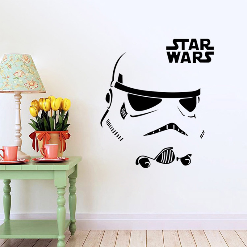 Star Wars Figures Carved Living Room Bedroom Wall Stickers