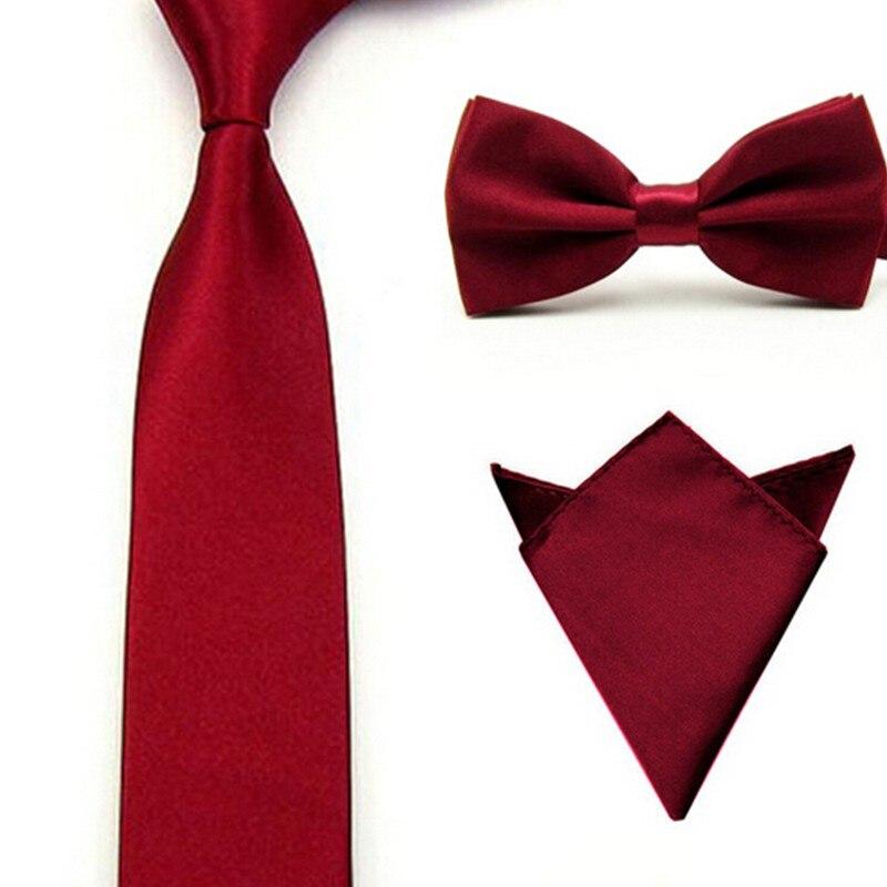 16 Colori Uomini Tie Bowtie Pocket Regolabile Plain Wedding Bow Tie Per La Sera Del Partito di colore solido Cravatte farfalle GB1712171