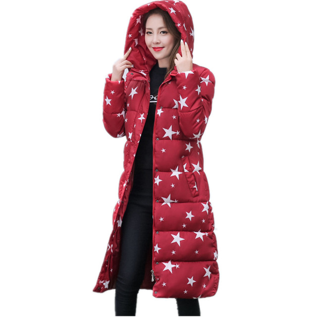 2016 New Winter Coat Women's Down Jacket Wadded Cotton Jacket Women Female Fashion Warm Parkas Hooded  Plus Size Casual Coat
