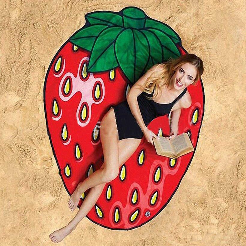 Fashion 3D Print Pattern Fruit Scarf Shawl Female Girl Summer Beach for Women