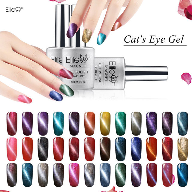 Elite99 Nail Gel Cat\'s Eye With a Magnet Nail Art Tips UV Gel Nail ...