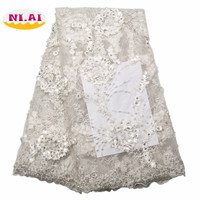 Wholesale French Guipure Cord Lace 3D Fabric High Quality White African Lace Fabrics 2018 Latest Nigerian Lace Fabrics XY1968B 6