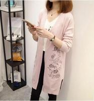 Large Size Flower Embroidery Maternity Cardigans 2017 Autumn Winter Loose Pregnancy Outwear Sweaters For Pregnant Women