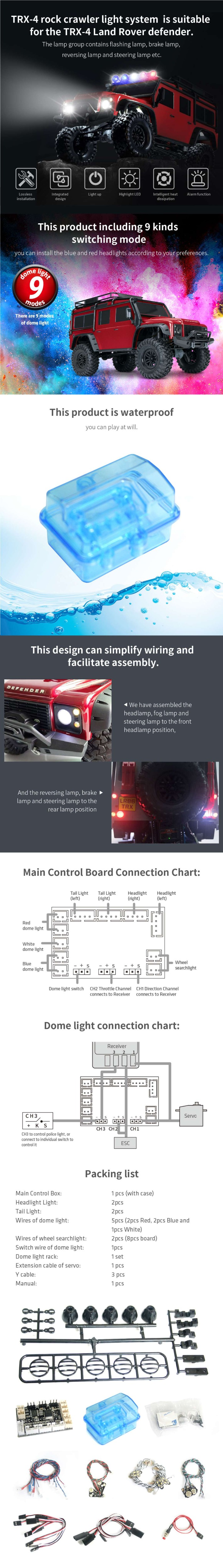 Gtpower подсветка для гусеницы рок подходит land rover defender