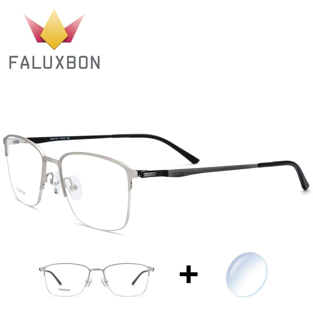 Optische Männer Verordnung C1 Spektakel Randlose Neue c3 Myopie c4 Schraubenlose Transparent Rechteck Brillen c2 Legierung Halb Brille Titan AtvwP1q1