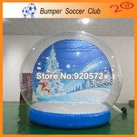 Бесплатная доставка бесплатная насос открытый м 3 м Рождество гигантский надувной снежный шар мяч надувной прозрачный пузырь для рекламы
