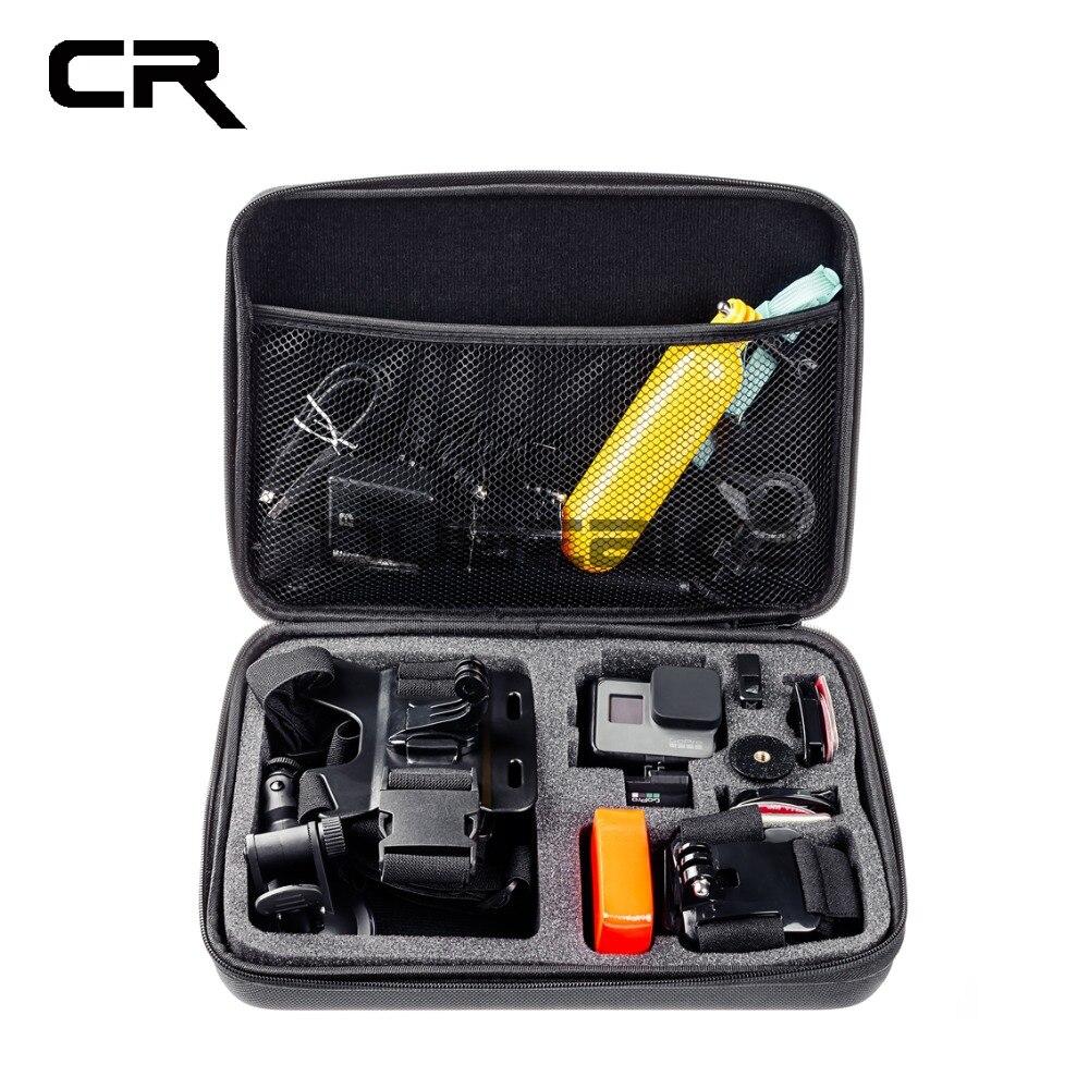 Camera Action Accessoires S M L Taille Sac pour Gopro Hero 6 5 Xiaomi Yi 4 k Cas Portable Caméra boîte pour Gopro EKEN H9 Sport Caméra