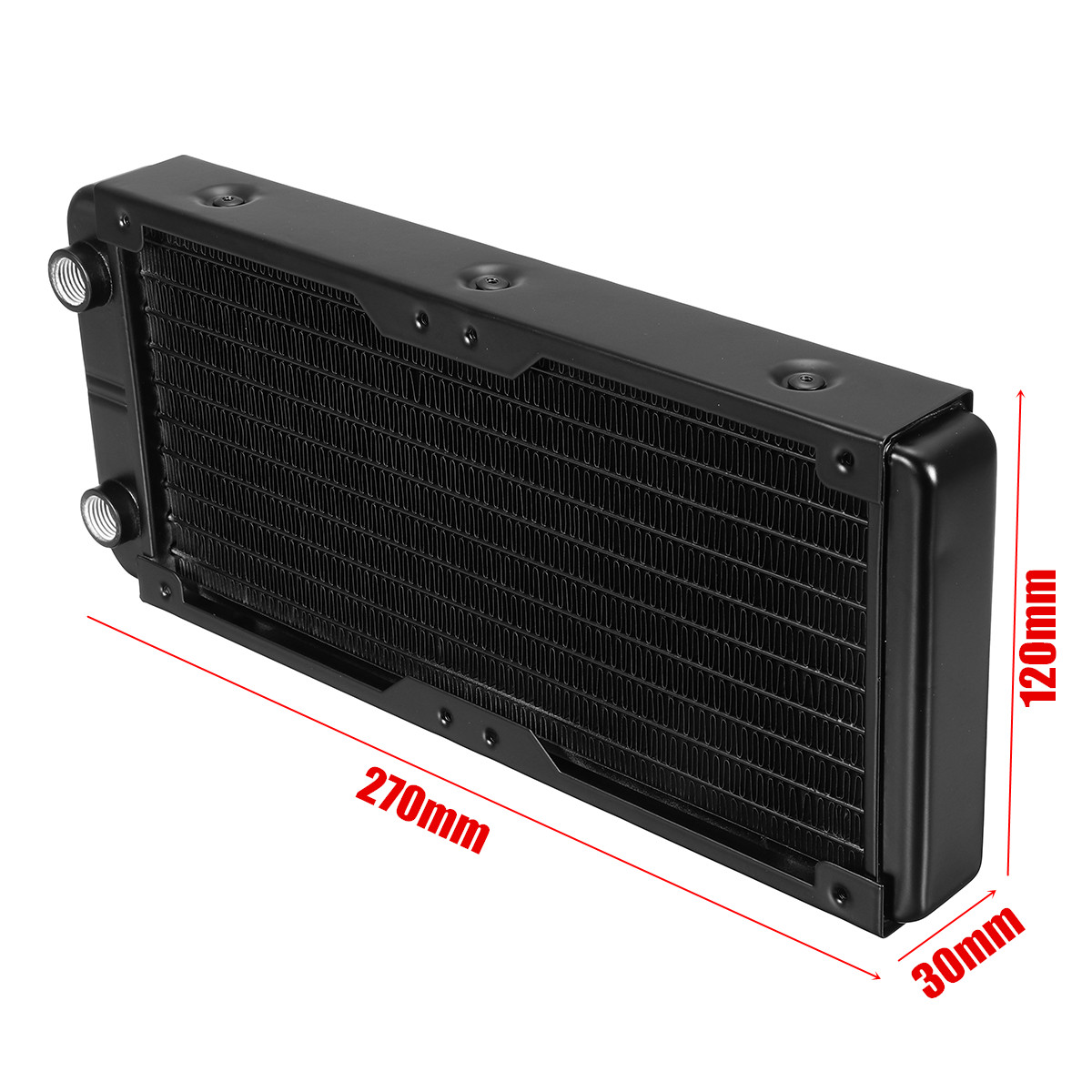 Computer Radiator Water Cooling Cooler for CPU Heat Sink 120mm 10 Pipe//Tubes Aluminum Heat Exchanger Radiator for PC CPU Computer Water Cool System