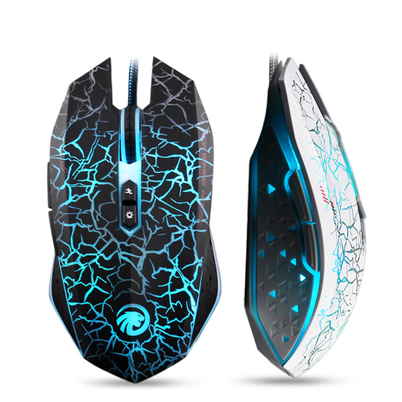 Zimoon 2400DPI USB Wired Optical Gaming Mouse Gamer Mice For Computer PC Laptop ...