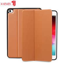 X-level Book Leather Flip Cases For Apple 2019 New Ipad Mini 5 Ultra Thin Luxury Business Smart Cover Case