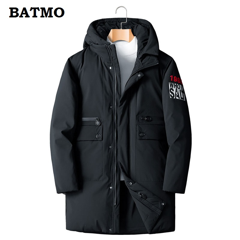 BATMO 2018 nouveauté hiver haute qualité chaud thiqué 90% blanc canard à capuche vestes hommes, hommes parkas taille L-8XL MY163