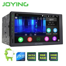 "JOYING upgrade PX5 Octa 8 Core  Android 6.0 Universal Car Radio 7"" double din 2G+32G Autoradio Player Stereo GPS Navigation"