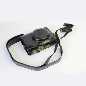 Image 5 - ポータブル Pu レザーケースカメラバッグカバーキヤノン SX740 SX740HS SX720HS SX720 SX730HS SX730 ポーチとショルダーストラップ