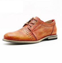 Breathable hollow leather men's shoes casual shoes leather summer SUB2106