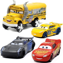 1:55 Disney Pixar Cars 3 New Roles Storm Jackson Lighting McQueen Miss Fritter Cruz Ramirez Metal Car Toys Boy Birthdays Gift(China)