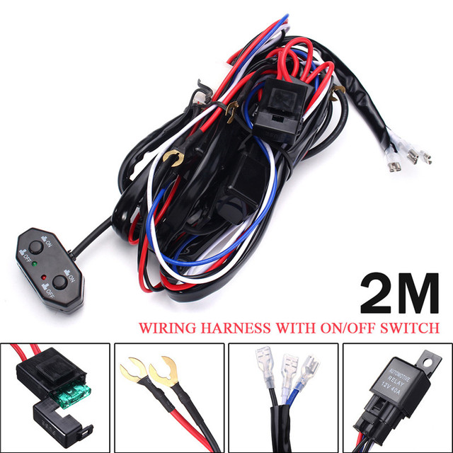 12v wiring harness with on off switch 40a car auto automotive relay rh aliexpress com automobile wiring kits automotive wiring kits australia