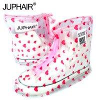 JUP Waterproof Rain Reusable Shoes Covers All Seasons Slip Resistant Zipper Rain Boot Overshoes Men Women