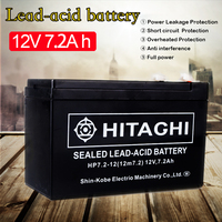 12 Volt 7Ah Rechargeable Sealed Lead Acid Battery Terminal 12V 7Amp for Access Power Supply Children's Electric Car Battery