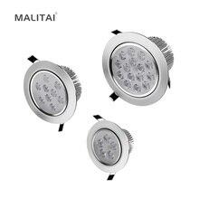 1Pcs 3W 5W 7W 9W 12W 15W 18W 85V-265V LED Downlight Recessed Ceiling lamp Panel light Spot Bulb + Driver For Indoor lighting