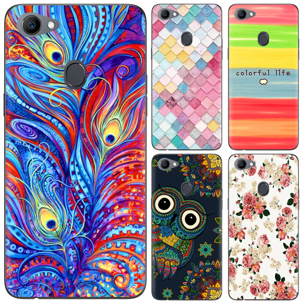 wholesale dealer af2d7 7db20 New Arrival Phone Case For OPPO F7 6.23-Inch Fashion Design Art Painted TPU  Silicone Cover Soft Case