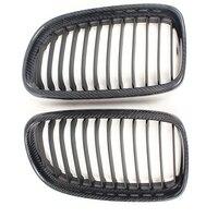 Углеродного волокна решетка радиатора автомобиля переднего бампера гриль для BMW E90 LCI 2009 2012