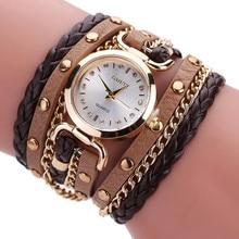Reloj de pulsera para Mujer, Relojes de pulsera de piel sintética de cuarzo Estilo Vintage 2019, Relojes de pulsera de cuero kol saati, reloj femenino
