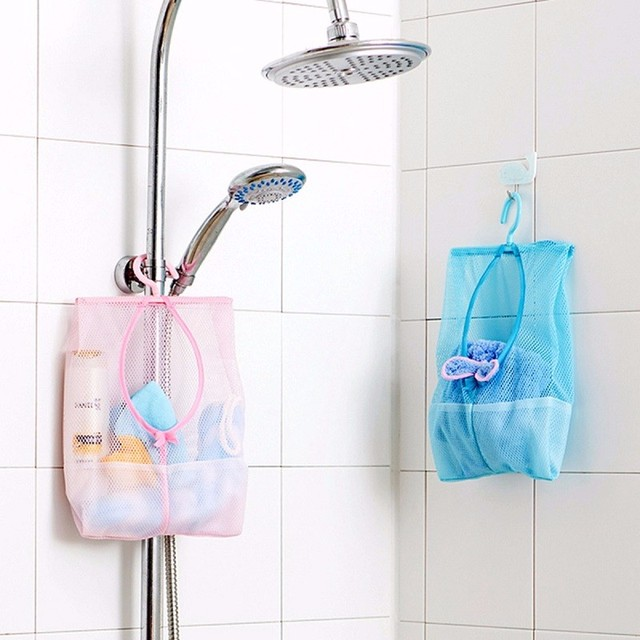 Superbe Colorful Clothes Toy Organizer Portable Clothes Hook Hanging Mesh Storage  Bag Laundry Hook Free Shipping