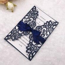 300pcs/lot 2015 New Hot wedding favor Brown Embossed Flower invitation pocket card,No inside paper,No envelope with EMS