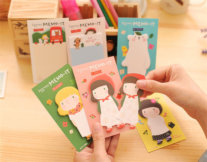 Creative cartoon cute Post notes message memo pads portable notebook learning stationery