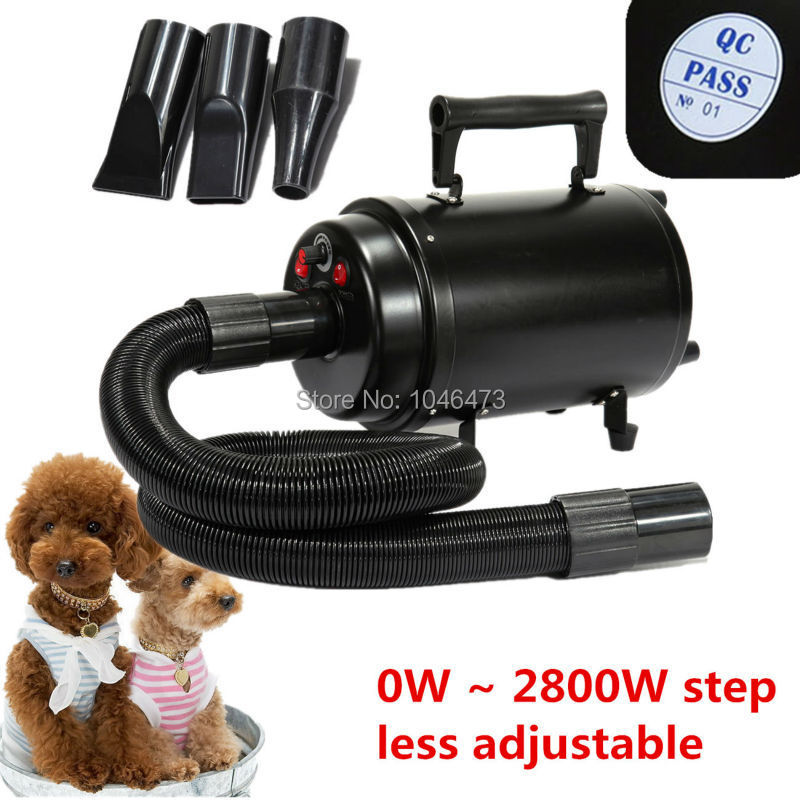 (Ship from Germany) 2800W Portable Dog Cat Animal Grooming Blow Hair Dryer Pet Dryer Heat Blower Blaster with 3 Nozzle EU Plug free shipping new version bs 2400 2200w low noise per dryer pet blower with eu plug dog cat variable speed dryer pet grooming